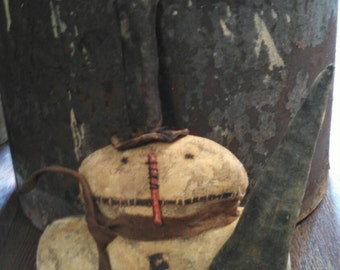 Primitive Snowman with his Tree.  WOW