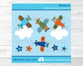 Cute Airplane Clipart / A...