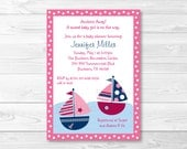 Cute Pink Sailboat Baby S...