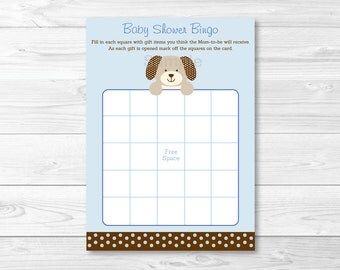 Puppy Baby Shower Bingo Cards INSTANT DOWNLOAD