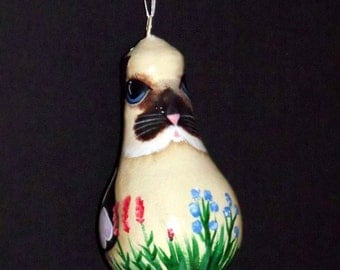 Hand Painted Easter Bunny Light bulb Ornament - Primitive - Folk Art - Tole Painting - Decorative Painting - Easter Decor - ofg - hdm **