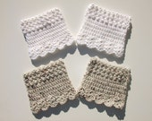 Crochet Boot Cuffs, Reversible Boot Cuffs, Womens Crochet Boot Cuffs, Boot Socks, Legwear, You Choose from 6 Colors, Ready to Ship
