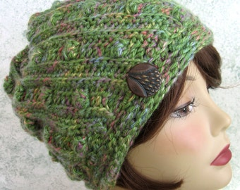 Crochet Hat pattern Spiral Rib With Flapper Style Brim ...