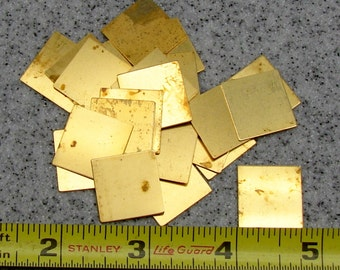 """3/4"""" Brass Square 24 Gauge  Pack of 24"""