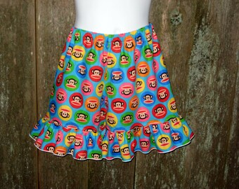 Blue Julius Junior Monkey Ruffle Shorts, 12 Months to 8 Years