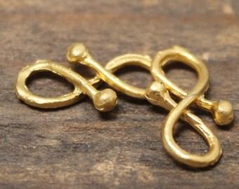 Link Vermiel Gold Plate Matte Scrolls TWO PB1