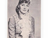 Greta Garbo As Anna Karenina ,Photogravure MGM  Publicity Postcard ,Unposted,Iconic Movie Star