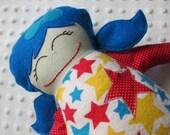 Vivian Medium Handmade Fabric Baby Doll