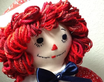 Raggedy Andy Doll 15 inch Boy Doll, Handmade, Can be Personalized for Added Cost