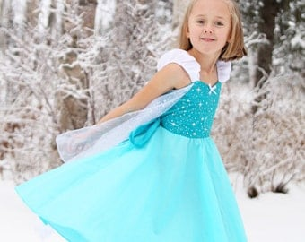 Elsa dress  princess  dress Frozen birthday party dress  or portrait