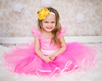 PINK dress Pink TUTU  DRESS skirt for baby toddler girl .. holiday birthday party  portrait flower girl special occasion pink dress