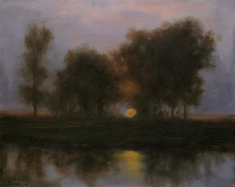 Landscape Oil Painting RAPTURE 16x20 by Janelle Goodwin