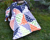 Boy Rag Quilt Pattern-Triangle Dash With Car Seat Tent Instructions