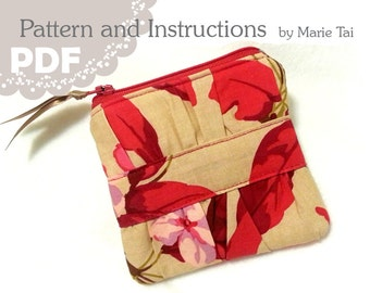 PDF Gathered Coin Pouch Tutorial