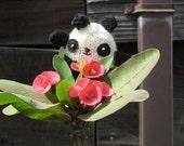 Hand Knit Mini Panda