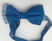 Bow tie blue sari satin