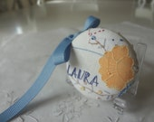 SALE - Retractable Tape Measure Hand Embroidered, LAURA, Handmade Printed Vintage Graphic Bird - EnglishPreserves