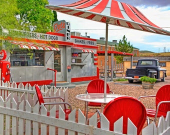 "Dot's Diner in Bisbee, Arizona 12""x18"" Canvas Gicleé Photograph"
