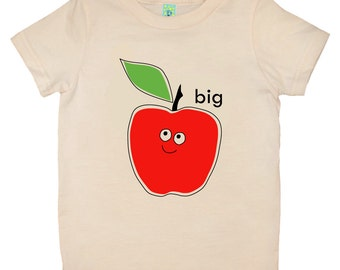 Organic cotton short sleeve kids T-shirt with screen printed Big Apple design by Bugged Out, made in the USA