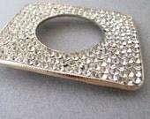 vintage 1950s rhinestone belt buckle