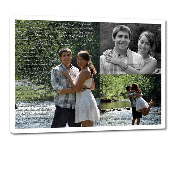 Couples Photos Collage Custom Canvas -  Gift for Boyfriend - Unique decor 10X10