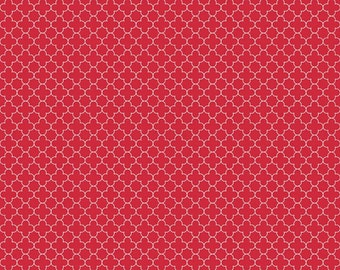 Mini Quatrefoil in Red (C345-80)