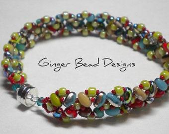 OOAK Multi Color Beaded Bracelet
