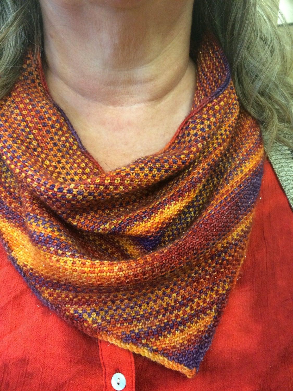 Bandana Cowl Knitting Pattern : Knitting Pattern Linen Stitch Bandana Cowl Pattern