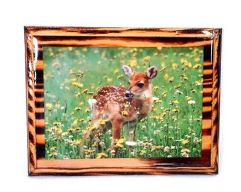 70's kitschy FAWN vintage wall hanging  // woodland decor