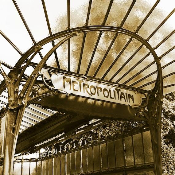 Vintage Metro Station  Archival Print