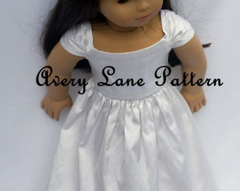 "18 inch doll Clothes Sewing Pattern Ella Doll Dress Pattern 18"" doll PDF clothing pattern"
