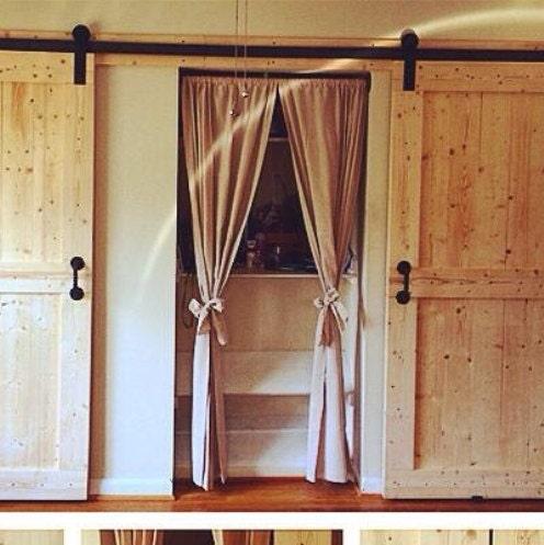 nat rliche baumwolle vorhang bauernhaus fenster behandlung. Black Bedroom Furniture Sets. Home Design Ideas
