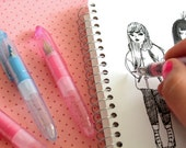 Cute Baby Fountain Pen - 2 Colours to choose from - (5 refills included)