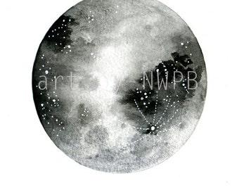 Moon print. Art print