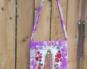 Our Lady of Guadalupe La Virgencita Pink Paisley Handy Hip Bag Cross Body Shoulder Bag