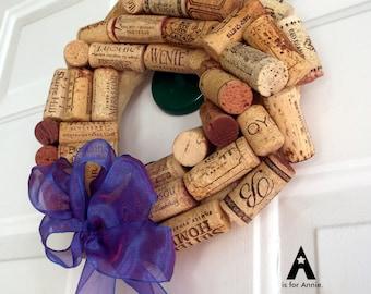 Wine Cork Wreath - small