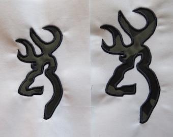 Buck/Doe  Applique Embroidery Designs - 6 sizes