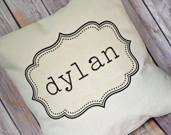 Personalized pillow, baby gift, children's pillow, personalized gift, newborn gift, name pillow  - whismical