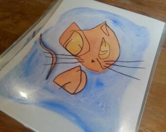 Alice's Cat (I), print.