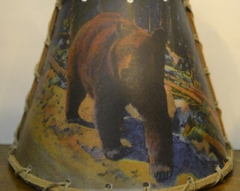 Adirondack Bear, Night Light, Vintage Image, Rustic Cabin Decor