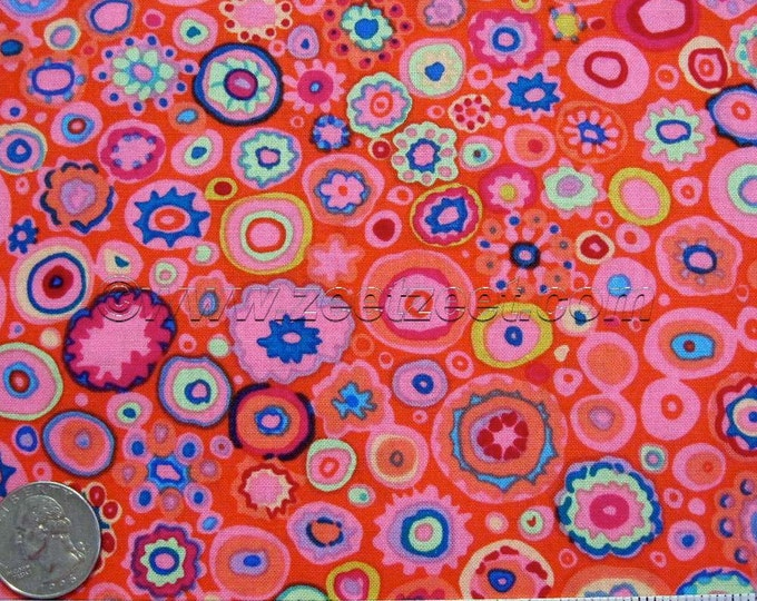 Kaffe Fassett PAPERWEIGHT Pink Tomato Red Orange GP20 Quilt Fabric - by the Yard, Half Yard, or Fat Quarter FQ