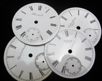 Vintage Antique Watch Dials Steampunk Faces Parts Enamel Porcelain Metal GB 43