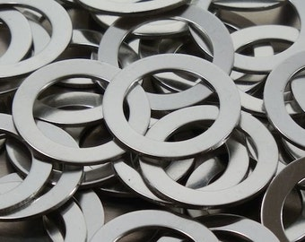 Pewter Stamping Blanks - Washers - 18 Gauge, Round stamping blanks, Washer blanks, Bopper