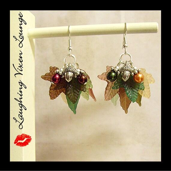 Fall Earrings - Autumn Jewelry - Fall Jewelry - A Tree In Autumn Earrings - Harvest Jewelry - Thanksgiving Earrings - Thanksgiving Jewelry