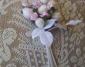 Czech Republic Fabric Millinery Wedding Nosegay Bouquet Flowers