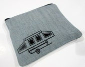 Pop Up Camper - Pop Up Trailer - Travel Trailer - Camping Gear Bag - Recycled Denim - Travel Gear Bag - Camping Pouch - Outdoors - Camp