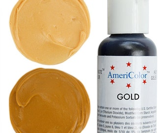 Americolor Gold Gel Paste Food Color - high quality food coloring for icing, frosting, cookie dough and more