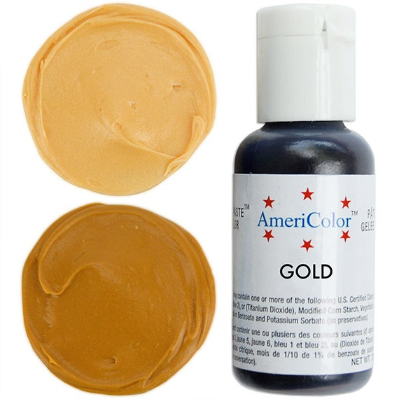 how to make gold slime with food coloring