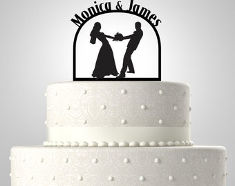 Acrylic Cake Topper,Wedding Cake Topper,Personalized Cake Topper,CT4
