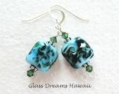 Glass Dangle Earrings, Sk...